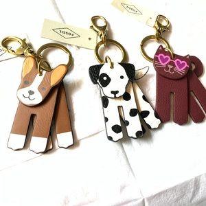 🔥NEW!🔥 Fossil Pet Key-Fob Dogs 🐶 & Cat 🐱